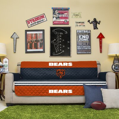 NFL Sofa Slipcover NFL Team: Chicago Bears