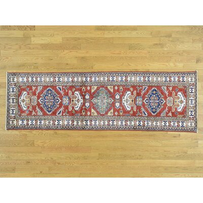 One-of-a-Kind Dorcey Super Kazak Hand-Knotted Wool Red Area Rug 5C897EE9F23349229386F149120689E4