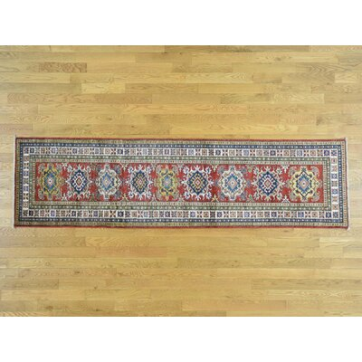 One-of-a-Kind Dorcey Super Kazak Hand-Knotted Wool Red Area Rug FA7187732B6F41FF9F02D504F69D2530