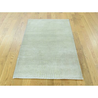 One-of-a-Kind Mikels Nepali Hand-Knotted Wool Green Area Rug