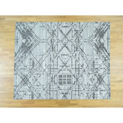 One-of-a-Kind Despres Undyed Natural Hand-Knotted Wool Gray Area Rug
