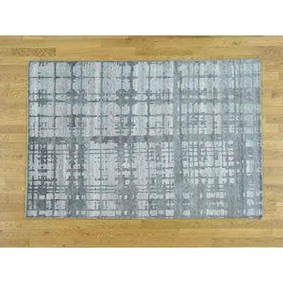 Despres One-of-a-Kind Undyed Natural Modern Hand-Knotted Wool Gray Area Rug