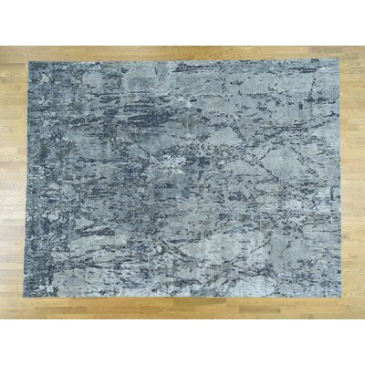 Despres One-of-a-Kind Abstract Hand-Knotted Wool Blue Area Rug