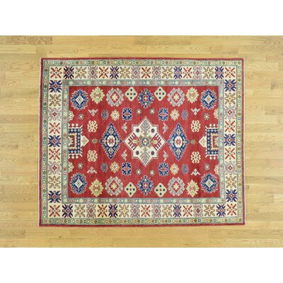 One-of-a-Kind Sanjuana Tribal Kazak Hand-Knotted Wool Red Area Rug