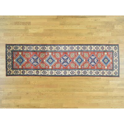 One-of-a-Kind Sanjuana Super Kazak Hand-Knotted Wool Red Area Rug