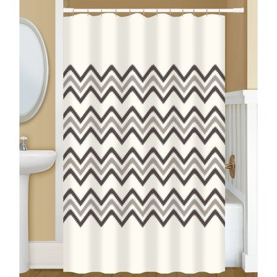 Drennon Chevron Stitch Shower Curtain