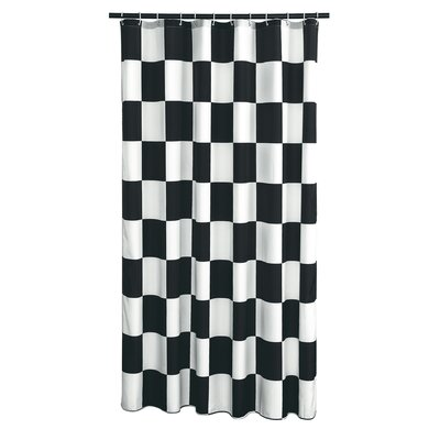 Dripping Springs Checkered Flag Shower Curtain