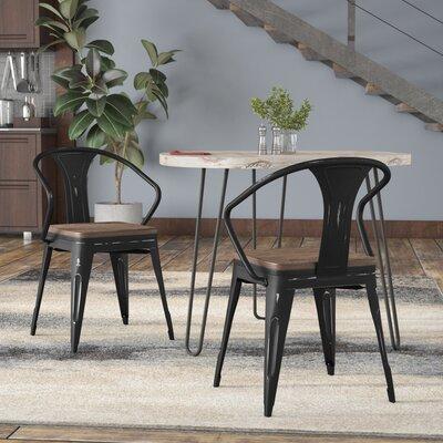 Ashlyn Metal Dining Chair Color: Black