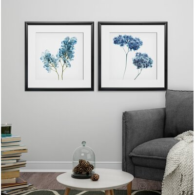 'Gorgeous Blue II' 2 Piece Framed Graphic Art Print Set Format: Black Framed 68E47FDDB97D4B02B308D9931A3F1EFF