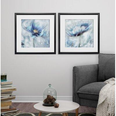 'Feeling of Blue I' 2 Piece Framed Graphic Art Print Set Format: Black Framed EC71C9BB3C8E4F91B7320628D1A89CC2