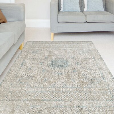 Alloway Transitional Beige Area Rug Size: Rectangle 53 x 76