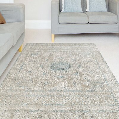Alloway Transitional Beige Area Rug Size: Rectangle 710 x 1010