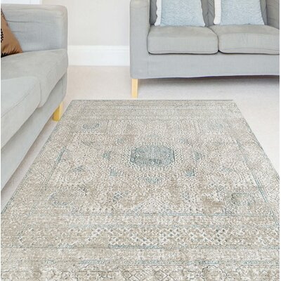 Alloway Transitional Beige Area Rug Size: Rectangle 96 x 139