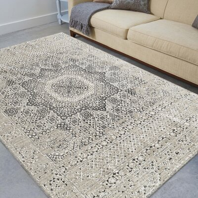 Alloway Transitional Platinum Area Rug