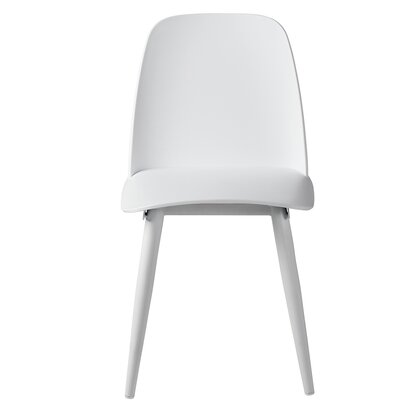 Sowell Mid-Century Modern Dining Chair Color: White