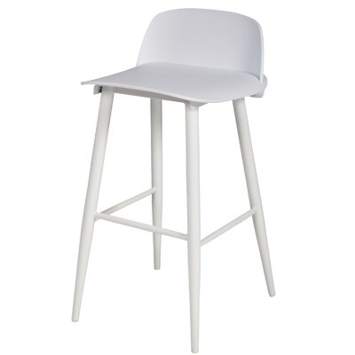 Sowers Mid-Century Modern 30 Bar Stool Color: White