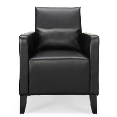 Chumley Flare Armchair Upholstery: Black