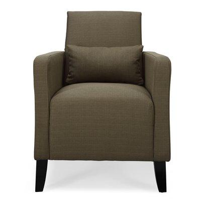 Chun Flare  Armchair Upholstery: Brown Sugar
