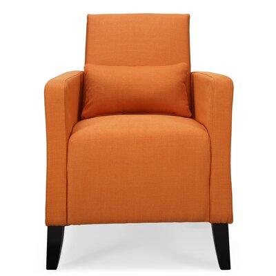Chun Flare  Armchair Upholstery: Safron