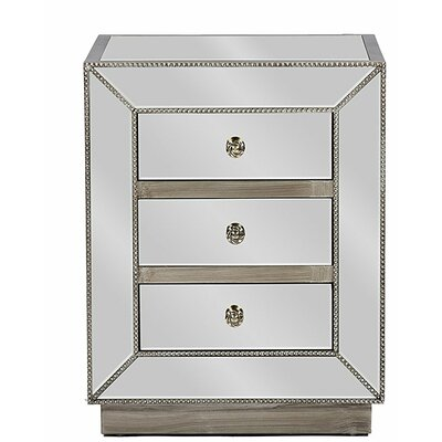 Martinson 3 Drawer Nightstand