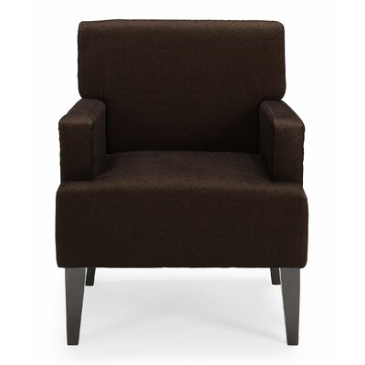 Costales Armchair Upholstery: Brown/Solid