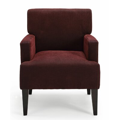 Costales Armchair Upholstery: Red/Solid