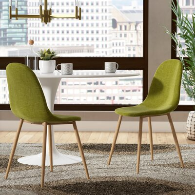 Christopher Upholstered Dining Chair Upholstery Color: Green