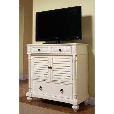 Island Manor 42 TV Stand Color: Black