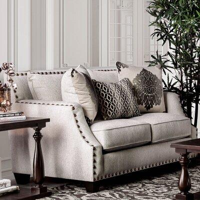 Myra Loveseat Upholstery: Beige
