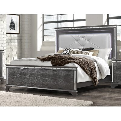 Landgraf Upholstered Storage Panel Bed Size: King