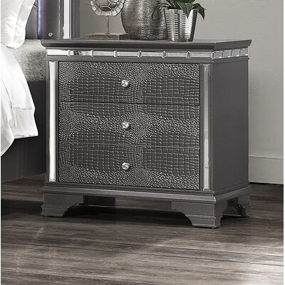 Landgraf 3 Drawer Nightstand
