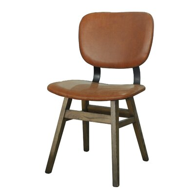 Riner Leather Upholstered Dining Chair
