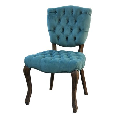 Diorio Upholstered Dining Chair Upholstery Color: Teal