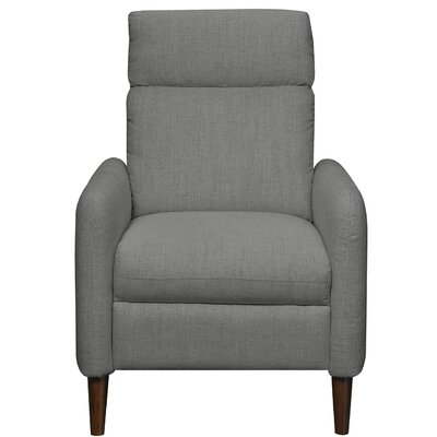 Crutcher Manual Recliner Upholstery: Blue Steel