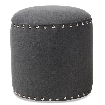 Hoppe Modern and Contemporary Standard Ottoman Upholstery Color: Dark Gray