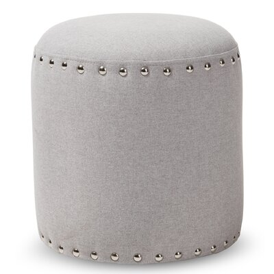 Hoppe Modern and Contemporary Standard Ottoman Upholstery Color: Light Gray