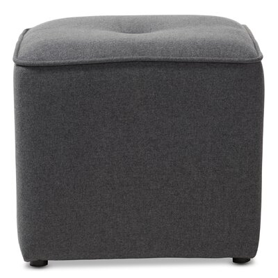 Foye Modern and Contemporary Cube Ottoman Upholstery Color: Dark Gray