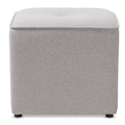 Foye Modern and Contemporary Cube Ottoman Upholstery Color: Light Gray