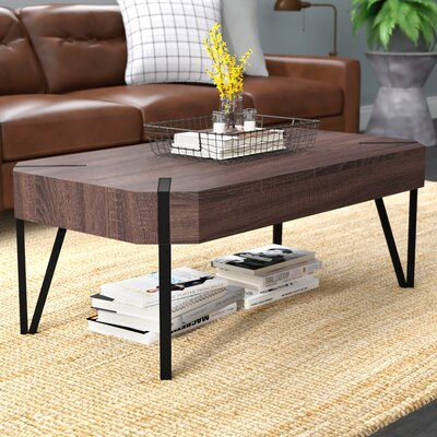 Vincente Rectangular Coffee Table Top Color: Dark Brown Oak