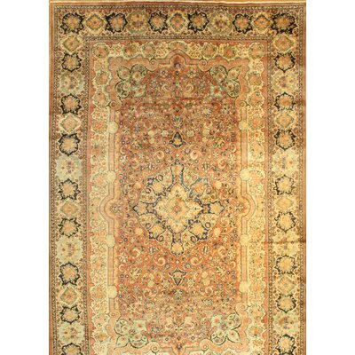 Persian Antique Mahal Hand-Knotted Wool Copper Area Rug