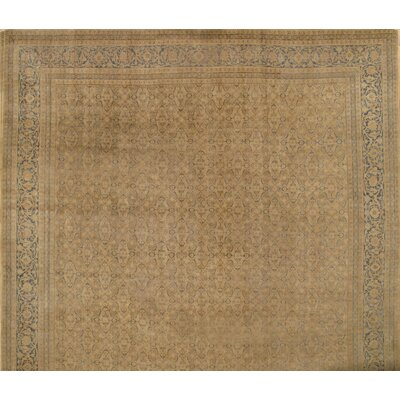 Persian Tabriz Hand-Knotted Wool Camel Area Rug