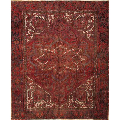Persian Tabriz Hand-Knotted Wool Navy Area Rug