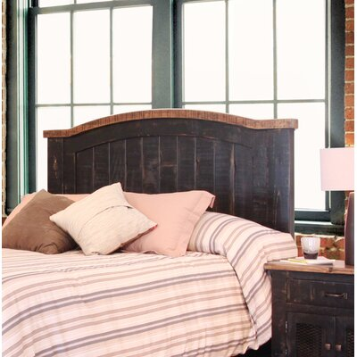 Pueblo Panel Headboard Size: King, Color: Black