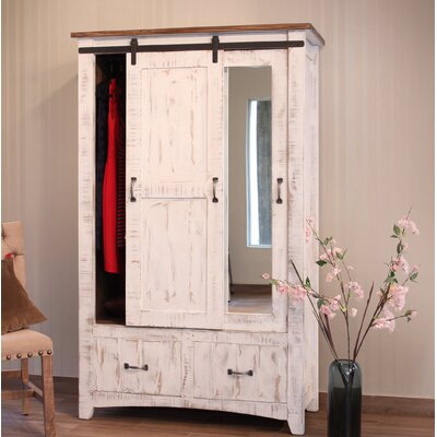 Pueblo 1 Door Armoire Color: White