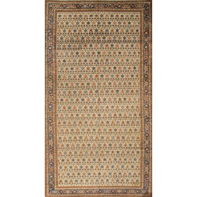 Persian Bakhshayesh Hand-Knotted Wool Ivory Area Rug
