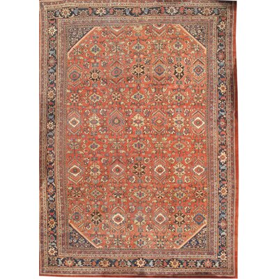 Persian Sultanabad Hand-Knotted Wool Rust Area Rug