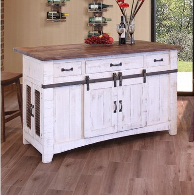 Pueblo 3 Drawer Kitchen Island