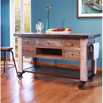 Doynton 5 Drawer Kitchen Island
