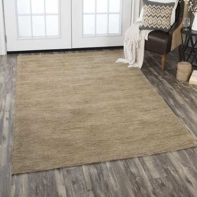 Etheredge Hand-Tufted Wool Brown Area Rug Rug Size: Rectangle 5 x 8