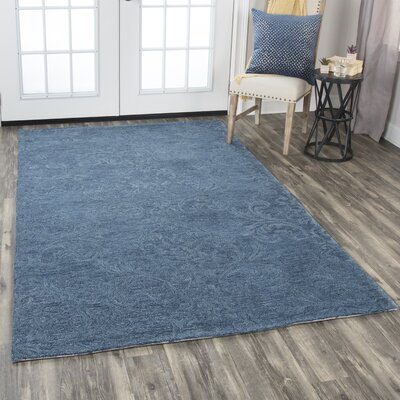 Etheredge Hand-Tufted Wool Blue Area Rug Rug Size: Rectangle 9 x 12